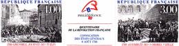France.triptyque 2538a.philexfrance 1989.bicentenaire De La Révolution.année 1988.neuf Non Plié. - Neufs
