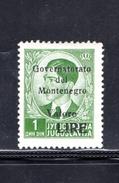 1942 Montenegro - Italian Occupation / King Peter Overprint - 1 Din - Mi. 35 A - MNH**F662 - Montenegro