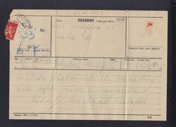 Czechoslovakia Telegramm 1931 - Czechoslovakia