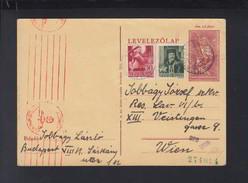 Hungary Stationery Uprated 1944 To Vienna Censor - Ungarn
