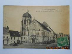 """CPA 10 AIX En OTHE   Place De L""""église De La Nativité - Voiture à Cheval Attelage 1923 - France"""
