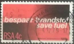 SUDAFRICA - AFRICA DEL SUR 1979 Fuel Conservation. USADO - USED. - África Del Sur (1961-...)