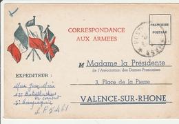 CPFM 1940 - Association Dames Françaises Valence - 2 Scans - Marcofilia (sobres)