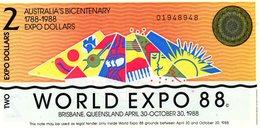 2 Dollars - World Expo 88 - Fakes & Specimens