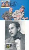 Maxi Card Blake & Mortimor + Carte Souvenir Belgique France - Comics