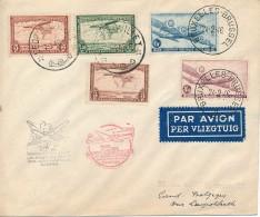 SABENA - Bruxelles Leopoldville En 25 Heures Et Retour Congo Belge Belgique - VdB 444A - Airmail