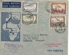 SABENA - Bruxelles Elisabethville 15.11.1935et Retour Congo Belge Belgique  - VdB 217F - Airmail