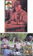 2007 - 2 Cartes Maximum - Scoutisme - Baden Powell - édition Belgium Maximaphiles - Maximum Cards