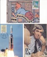 2004 - 5 Cartes Maximum - Tintin Et La Lune - édition The Belgian Maximaphiles - Maximum Cards
