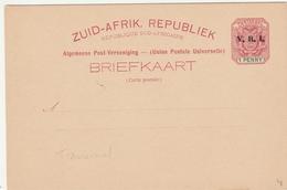 Carte Entier Transvaal Zuid-Afrik Surchargé VRI - 1 Penny - Stationery Ganzsache - Sud Africa (...-1961)