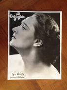 "Lys GAUTY "" Columbia "" - Célébrités"