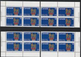 CANADA 1977 SCOTT 735 CORNER BLOCKS SET - 1952-.... Reign Of Elizabeth II