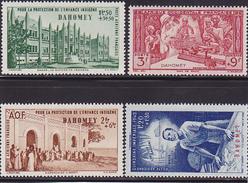 Dahomey P.Aérienne  N°  6-7-8-9 Neufs * - Voir Verso - - Dahomey (1899-1944)