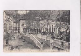 CPA DPT 66 AMELIE LES BAINS,VUE DE L ANNEXE DES THERMES ROMAINS ET DE LA TERRASSE DU CAFE  En 1924!! - France