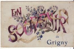 Cpa  Souvenir De Grigny - Grigny