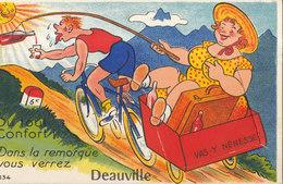 DEAUVILLE  / CARTE SYSTEME ET PETITES VUES   //////     REF MARS 17 / N° 2544 - Deauville