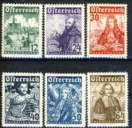 Austria 1933 Serie Y&T N. 431-436 Assedio Di Vienna (Katholikentag) MNH** LUX Cat. € 480 - Nuovi