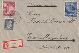 DR Orts-R-Brief Mif Minr.781,808,809 Essen 19.10.42 - Briefe U. Dokumente