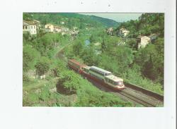 LE T A 8332 ASSURANT UN MOUVEMENT D'ALES GENHOLAC VIENT DE QUITTER LA GARE DE LA LEVADE (GARD) MAI 1985 - Francia