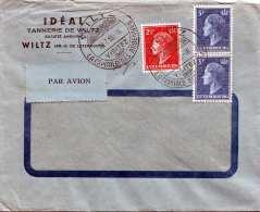 LUXEMBOURG Luftpostbrief 1955, 3 Fach Frankiert - Luftpost