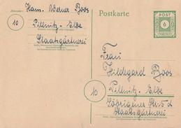 Sowj. Zone Ganzsache P6 Zfr. Ost-Sachsen Minr.51,52,53-55,56-60 Pillnitz 17 1.46 - Sowjetische Zone (SBZ)