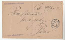 1930s CZECHOSLOVAKIA  OFFICIAL Mail COVER KOJETINE COURT  Stamps - Covers & Documents