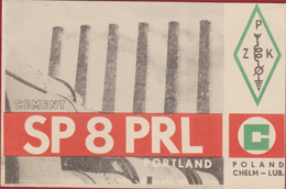POLAND Polsak Pologne Polen Warszawa Cement Portland 1985 QSL Card Amateur Radio Station - Radio Amatoriale