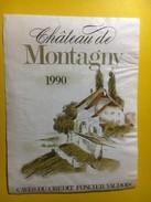 3659 - Suisse Vaud Château De Montagny 1990 Caves Du Crédit Foncier Vaudois - Etiquettes