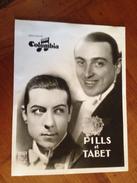 """PILLS & TABET  """" Columbia"""" - Célébrités"""