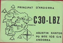 Principat D' Andorra 1985 QSL Card Amateur Radio Station (folded Corners) - Radio Amatoriale