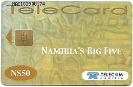 @+ Namibie - N$ 50 - Big Five : Buffle