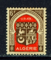 ALGERIA  -  1947  Coats Of Arms  F6  Mounted/Hinged Mint - Unused Stamps