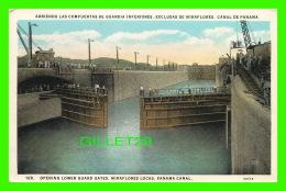 PANAMA - OPENING LOWER GUARD GATES, MIRAFLORES LOCKS, PANAMA CANAL - L. MADURO Jr - - Panama