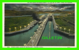 PANAMA - MIRAFLORES LOCKS BY MOONLIGHT, PANAMA CANAL - L. MADURO Jr - - Panama