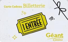 ## Carte  Cadeau  Geant Casino  ##  (France)   Gift Card, Giftcart, Carta Regalo, Cadeaukaart - Cartes Cadeaux