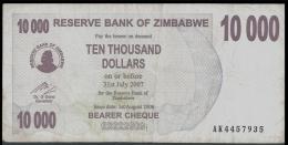 Zimbabwe 10000 DOLLARS 2006 P 46b  ( Zimbabue  ) - Zimbabwe