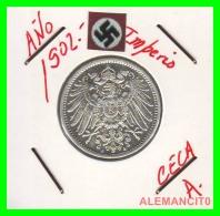 GERMANY -  IMPERIO - DEUTSCHES REICH - 1 Mark. AÑO 1902-A - 1 Mark