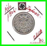 GERMANY -  IMPERIO - DEUTSCHES REICH - 1 Mark. AÑO 1904-A - 1 Mark
