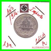 GERMANY -  IMPERIO - DEUTSCHES REICH - 1 Mark. AÑO 1914-A - 1 Mark