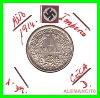 GERMANY -  IMPERIO - DEUTSCHES REICH - 1 Mark. AÑO 1914-D - 1 Mark