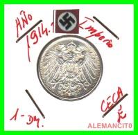 GERMANY -  IMPERIO - DEUTSCHES REICH - 1 Mark. AÑO 1914-E - 1 Mark