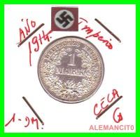 GERMANY -  IMPERIO - DEUTSCHES REICH - 1 Mark. AÑO 1914-G - 1 Mark