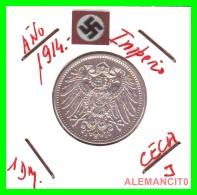 GERMANY -  IMPERIO - DEUTSCHES REICH - 1 Mark. AÑO 1914-J - 1 Mark