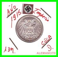 GERMANY -  IMPERIO - DEUTSCHES REICH - 1 Mark. AÑO 1915-D - 1 Mark