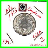 GERMANY -  IMPERIO - DEUTSCHES REICH - 1 Mark. AÑO 1915-J - 1 Mark