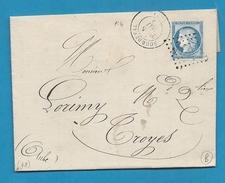Manche - Sourdeval Pour Paris. GC + CàD Type 17. 1875 - Marcophilie (Lettres)
