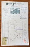 FATTURA PUBBLICITARIA  PARIS 1912 BELLE JARDINIERE  CON MARCA DA BOLLO PERFINS - Francia