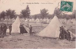 CPA Camp De Mailly - Tentes Des Officiers - Bureau De Poste Ambulant Chalons-Troyes - 1912 (27791) - Charolles