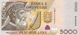ALBANIA 5000 LEKE 2013 (2014) VF-EXF (free Shiping Via Registered Air Mail) - Albanie