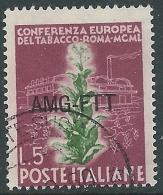 1950 TRIESTE A USATO TABACCO 5 LIRE - L2 - Usati
